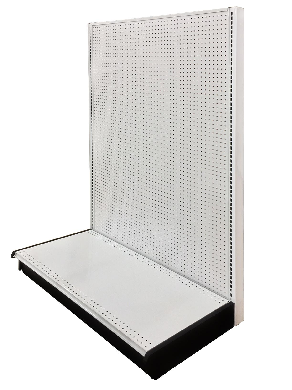 Wall Unit Addon 48 Length 84 Height 22 Base Depth Pegboard Backing White